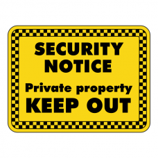 Private Property KEEP OUT Security Sign (Landscape)