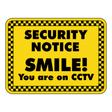 SMILE You Are On CCTV Security Sign (Landscape)