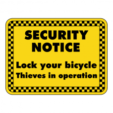 Lock Your Bicycle Security Sign (Landscape)