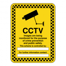 CCTV Images Are Being Recorded Security Sign