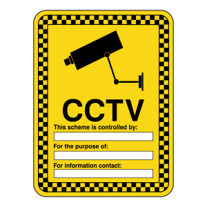 CCTV - This Scheme Is Controlled By Security  Sign