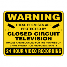 Premises Protected By Closed Circuit Television Security Sign