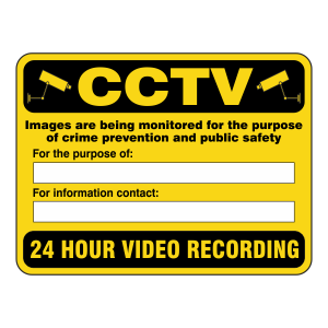 CCTV - Images Are Being Recorded Security Sign