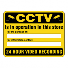 CCTV Is In Operation In This Store For The Purpose Security Sign