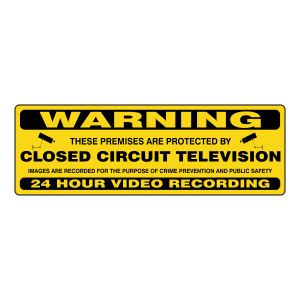 Premises Protected By Closed Circuit Television Security Sign (Landscape)