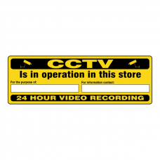 CCTV Is In Operation In This Store For The Purpose Of Security Sign (Landscape)