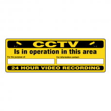 CCTV Is In Operation In This Area For The Purpose Of Security Sign (Landscape)