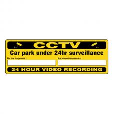 CCTV - Car Park Under 24 Hour Surveillance Security Sign (Landscape)