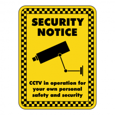 CCTV In Operation For Personal Safety Security Sign