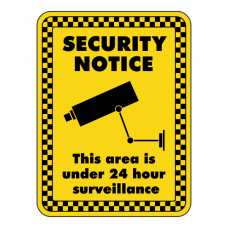 This Area Under 24 Hour Surveillance Security Sign