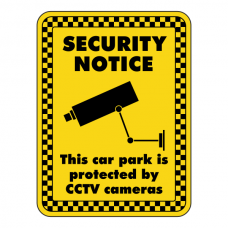 Car Park Protected By CCTV Security Sign