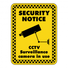 CCTV Surveillance Camera In Use Security Sign
