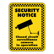 Surveillance Camera In Operation Security Sign