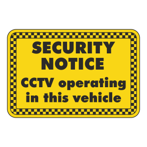 CCTV Operating In This Vehicle Sign