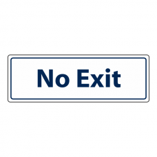 No Exit Door Sign (Landscape)