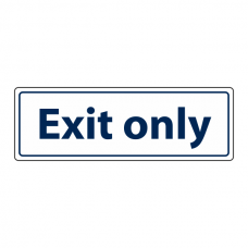 Exit Only Sign (Landscape)