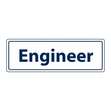 Engineer Sign (Landscape)
