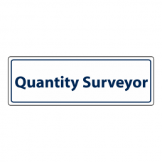 Quantity Surveyor Sign (Landscape)