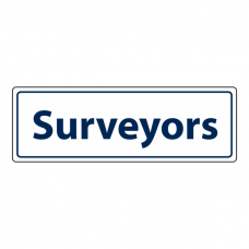 Surveyors Sign (Landscape)