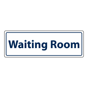 Waiting Room Sign (Landscape)