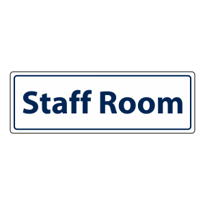 Staff Room Sign (Landscape)