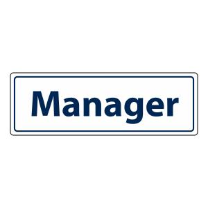 Manager Sign (Landscape)