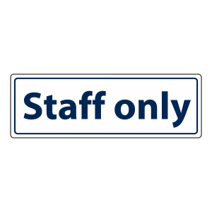 Staff Only Sign (Landscape)