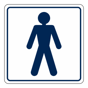 Gents Toilet Sign (Square)