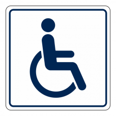 Disabled Toilet Sign (Square)