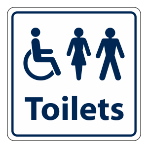 Disabled / Ladies / Gents Toilet Sign (Square)