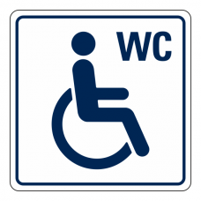 Disabled WC Sign (Square)
