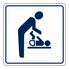 Baby Changing Facilities Sign (Square)