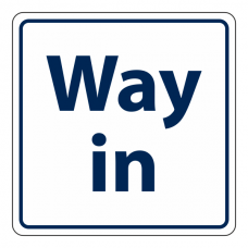 Way In Sign (Square)