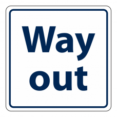 Way Out Sign (Square)