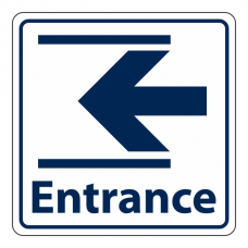 Entrance Slide Left Sign (Square)