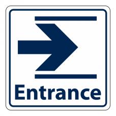 Entrance Slide Right Sign (Square)