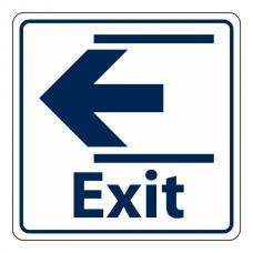 Exit Slide Left Sign (Square)