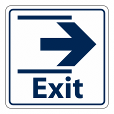 Exit Slide Right Sign (Square)