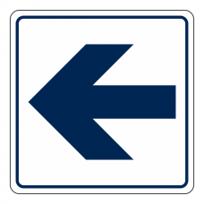 General Straight Arrow Sign (Square)