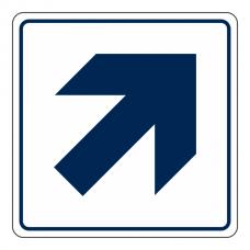 General Diagonal Arrow Sign (Square)