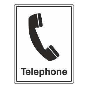Telephone Sign (Portrait)