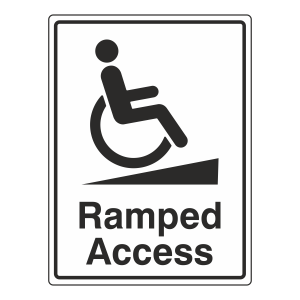 Ramped Access Sign