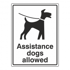 Assistance Dogs Allowed Sign
