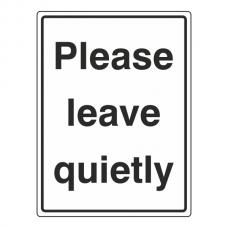 Please Leave Quietly Sign (Portrait)