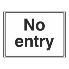 No Entry General Sign (Large Landscape)