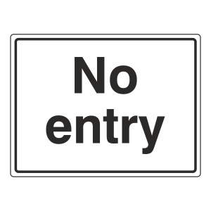 No Entry General Sign (Large Landscape)