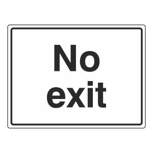 No Exit General Sign (Large Landscape)