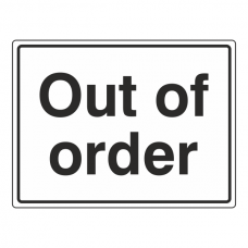 Out Of Order General Sign (Large Landscape)