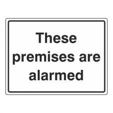 These Premises Are Alarmed General Sign (Large Landscape)