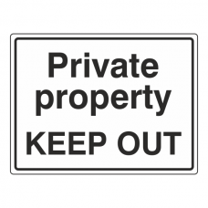 Private Property KEEP OUT Sign (Large Landscape)